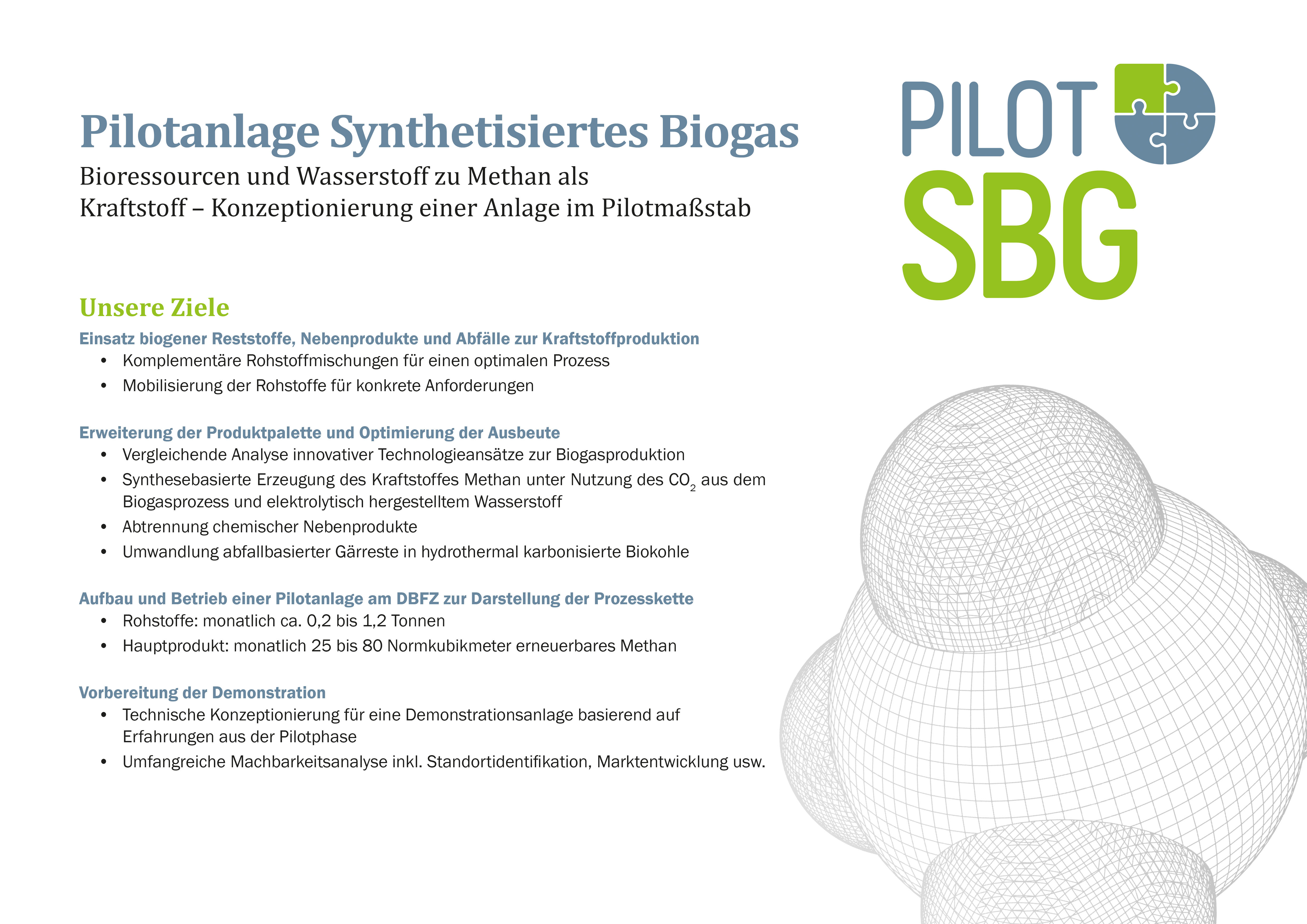 Flyer PILOT-SBG (Pilot plant synthetic biogas)