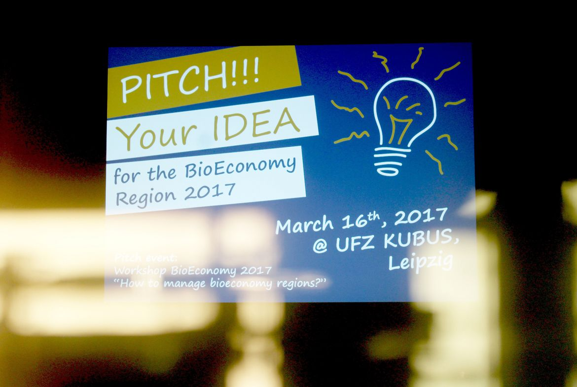 "Veranstaltung ""Pitch!!! Your Idea for the BioEconomy Region 2017"" am 16. März 2017 im Leipziger KUBUS"